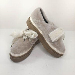 GL Genuine Shearling Platform Sneakers